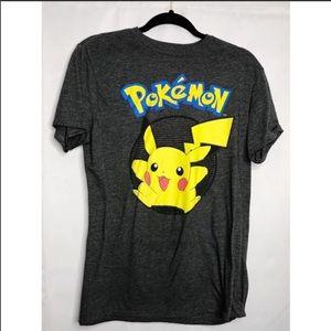 Gray pokemon picachu Large t shirt